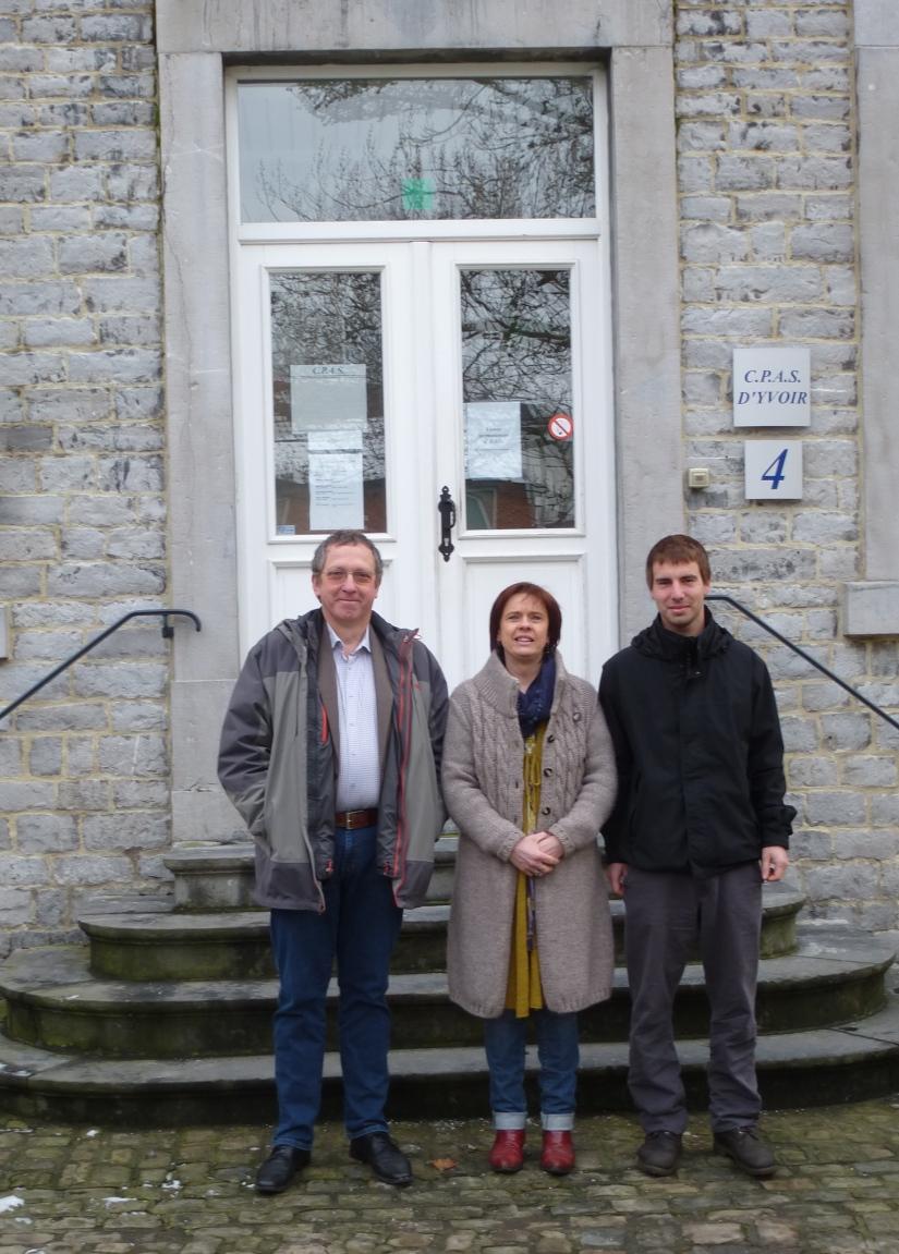 De gauche à droite: Jean Pierre Marinx, Anne-Catherine Cochart et Hugo Nassogne