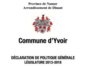 Declaration politique generale 2013 image
